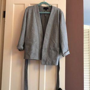 J Crew Grey Sweatshirt Blazer sz M